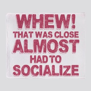 Introvert Social Anxiety Humor Throw Blanket