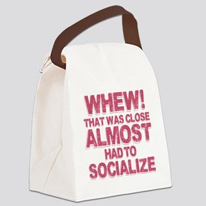 Introvert Social Anxiety Humor Canvas Lunch Bag