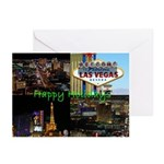 Las Vegas Happy Holidays Scenic Cards Pk of 10