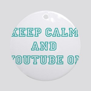 Keep Calm Ornament (Round)