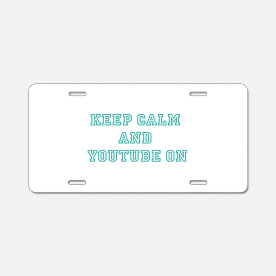 Keep Calm Aluminum License Plate