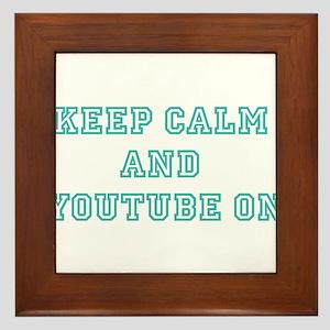 Keep Calm Framed Tile