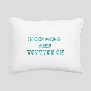 Keep Calm Rectangular Canvas Pillow