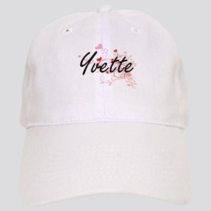 Yvette Artistic Name Design with Hearts Cap
