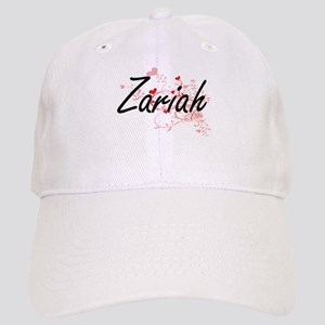 Zariah Artistic Name Design with Hearts Cap
