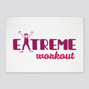 Extreme workout 5'x7'Area Rug