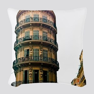 French Architecture Woven Throw Pillow