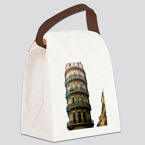 French Architecture Canvas Lunch Bag