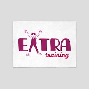 Extra training 5'x7'Area Rug