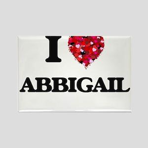 I Love Abbigail Magnets