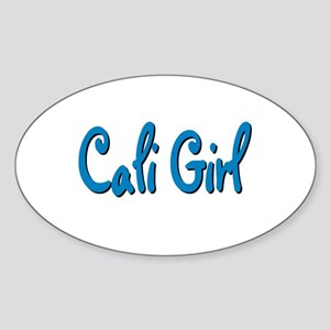 """California Girl"" Oval Sticker"