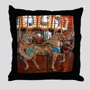 Santa Monica Pier Carousel Throw Pillow