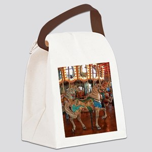 Santa Monica Pier Carousel Canvas Lunch Bag