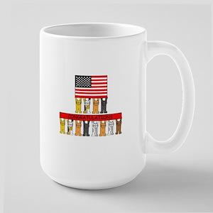 USA citizenship congratulations. Large Mug