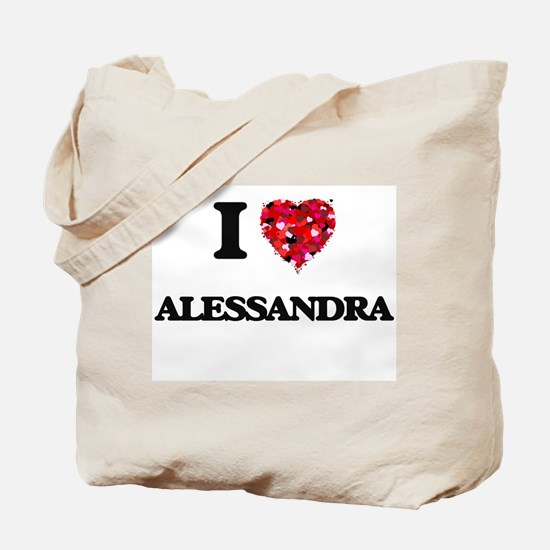 I Love Alessandra Tote Bag