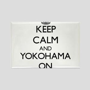 Keep Calm and Yokohama ON Magnets