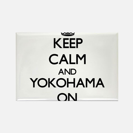 Keep Calm and Yokohama ON Magnets