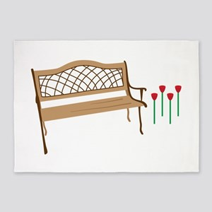 Garden bench 5'x7'Area Rug