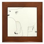 Polar Bear Stand 1 Framed Tile
