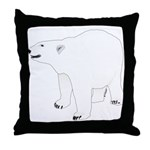 Polar Bear Stand 1 Throw Pillow