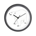 Polar Bear Stand 1 Wall Clock
