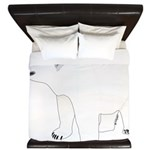 Polar Bear Stand 1 King Duvet