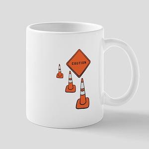 Caution traffic cone Mugs