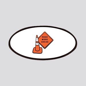 Road work ahead traffic cone Patch