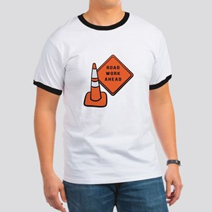 Road work ahead traffic cone T-Shirt