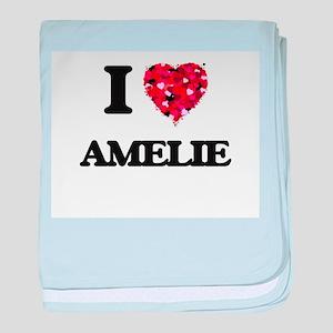 I Love Amelie baby blanket
