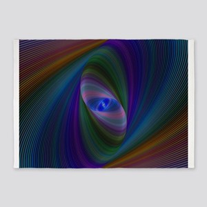 Abstract Sci-Fi Elipse 5'x7'Area Rug