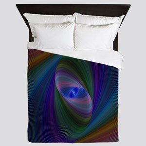 Abstract Sci-Fi Elipse Queen Duvet