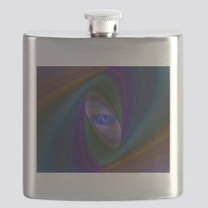Abstract Sci-Fi Elipse Flask