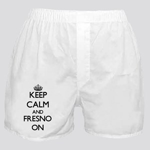 Keep Calm and Fresno ON Boxer Shorts