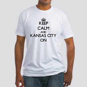 Keep Calm and Kansas City ON Fitted T-Shirt