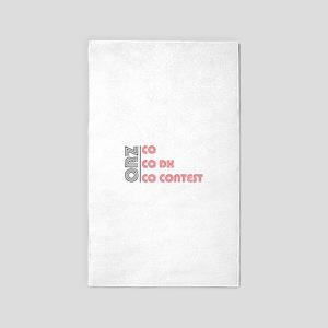 CQ CQDX CQ CONTEST Area Rug