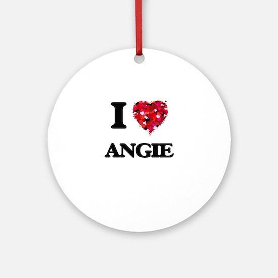 I Love Angie Ornament (Round)