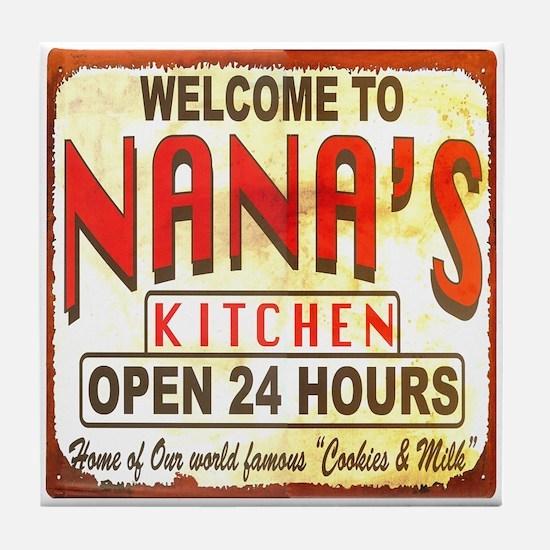 Nana's Kitchen Art Tile Coaster