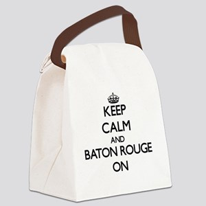 Keep Calm and Baton Rouge ON Canvas Lunch Bag