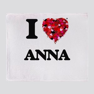 I Love Anna Throw Blanket