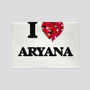 I Love Aryana Magnets