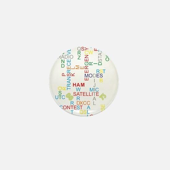 HAM RADIO WORDS Mini Button
