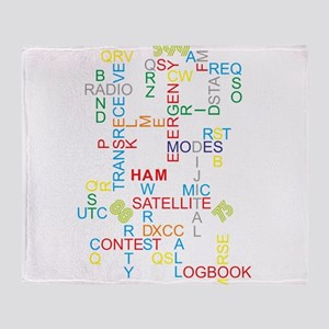HAM RADIO WORDS Throw Blanket