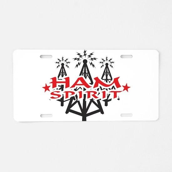 Ham Spirit Aluminum License Plate