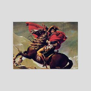Napoleon On Horse Painting 5'x7'Area Rug
