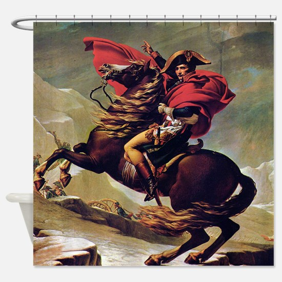 Napoleon On Horse Painting Shower Curtain