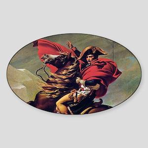 Napoleon On Horse Painting Sticker