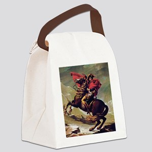 Napoleon On Horse Painting Canvas Lunch Bag