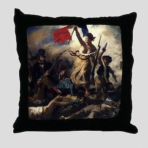 Eugène Delacroix French Revolution Painting Throw