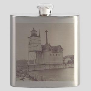 Holland Harbor Lighthouse 2 Flask